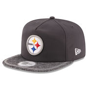 Pittsburgh Steelers New Era On Field Training Camp A-Frame Adjustable Hat - Gray