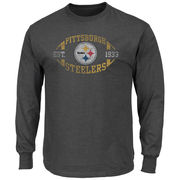 Pittsburgh Steelers Majestic A Life Above Long Sleeve T-Shirt - Charcoal