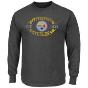 Pittsburgh Steelers Majestic Big & Tall A Life Above Long Sleeve T-Shirt - Charcoal