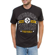 Pittsburgh Steelers Star Throwback T-Shirt - Black