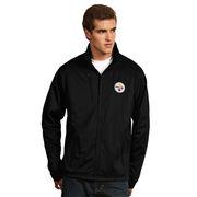 Pittsburgh Steelers Antigua Tempest Desert Dry Xtra-Lite Full-Zip Jacket - Black
