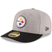 Pittsburgh Steelers New Era Change Up Low Profile 59FIFTY Fitted Hat - Heathered Gray/Black