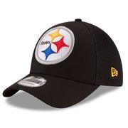 Pittsburgh Steelers New Era Mega Team Neo 39THIRTY Flex Hat - Black