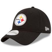Pittsburgh Steelers New Era Perf Shore Training Mesh 9TWENTY Adjustable Hat - Black