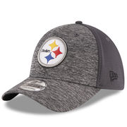 Pittsburgh Steelers New Era Shadowed Team 39THIRTY Flex Hat - Heathered Gray/Graphite
