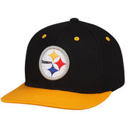 Pittsburgh Steelers Youth Loyal Snapback Adjustable Hat - Black/Gold