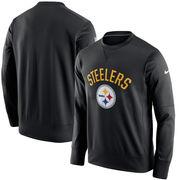 Pittsburgh Steelers Nike Sideline Circuit Performance Sweatshirt - Black