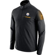Pittsburgh Steelers Nike Elite Coach Half-Zip Performance Jacket - Black