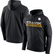 Pittsburgh Steelers Nike Sideline Circuit Pullover Performance Hoodie - Black