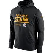 Pittsburgh Steelers Nike Circuit Property Of Performance Pullover Hoodie - Black