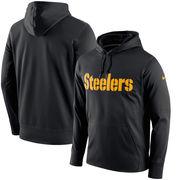 Pittsburgh Steelers Nike Circuit Wordmark Essential Performance Pullover Hoodie - Black