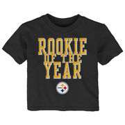 Pittsburgh Steelers Toddler Rookie Of The Year T-Shirt - Black