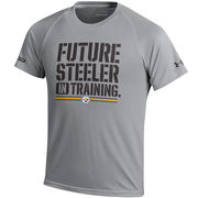 Pittsburgh Steelers Under Armour Youth NFL Combine Authentic Future Tech Performance T-Shirt - Gray