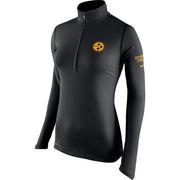 Pittsburgh Steelers Nike Women's Tailgate Element Half-Zip Performance Jacket - Black