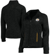 Pittsburgh Steelers G-III 4Her by Carl Banks Women's Checkpoint Full Zip Jacket - Black
