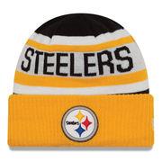 Pittsburgh Steelers New Era Toddler Biggest Fan 2.0 Cuffed Knit Hat - Black/Gold