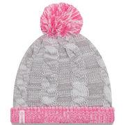 Pittsburgh Steelers New Era Girls Toddler Snug Cuffed Knit Hat - Gray/Pink