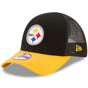 Pittsburgh Steelers New Era Toddler Mascot Mixer 9FORTY Adjustable Hat - Black/Gold