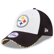 Pittsburgh Steelers New Era Girls Youth 2-Tone Cutie 9TWENTY Adjustable Hat - White/Black
