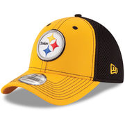 Pittsburgh Steelers New Era Youth Team Front Neo 39THIRTY Flex Hat - Gold/Black