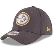 Pittsburgh Steelers New Era Youth Tone Tech Redux 39THIRTY Flex Hat - Graphite
