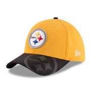 Pittsburgh Steelers New Era Sideline Classic 39THIRTY Flex Hat - Gold