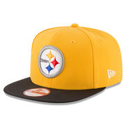 Pittsburgh Steelers New Era Sideline Classic 9FIFTY Snapback Adjustable Hat - Gold