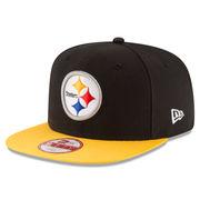 Pittsburgh Steelers New Era Sideline Official Original Fit 9FIFTY Snapback Adjustable Hat - Black