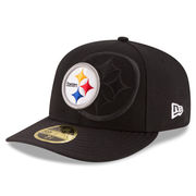 Pittsburgh Steelers New Era Sideline Official Low Profile 59FIFTY Fitted Hat - Black