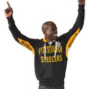 Pittsburgh Steelers Hands High Sueded Playoff Full-Zip Hoodie - Black