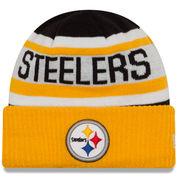 Pittsburgh Steelers New Era Biggest Fan 2.0 Cuffed Knit Hat - Black/Gold