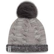Pittsburgh Steelers New Era Women's Cozy Team Cuffed Knit Hat - Gray/Graphite