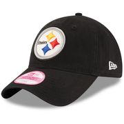 Pittsburgh Steelers New Era Women's Team Glisten 9TWENTY Adjustable Hat - Black
