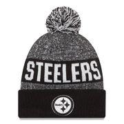 Pittsburgh Steelers New Era Sport Knit Hat - Black/White