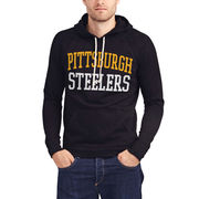 Pittsburgh Steelers Junk Food Half Time Pullover Hoodie - Black