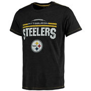 Pittsburgh Steelers Majestic Threads Laces Out Tri-Blend T-Shirt - Black/Gold