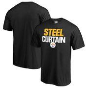Pittsburgh Steelers NFL Pro Line Big & Tall Mantra T-Shirt - Black