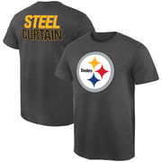 Pittsburgh Steelers NFL Pro Line by Fanatics Branded Rally Logo T-Shirt - Gray