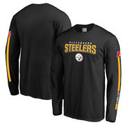 Pittsburgh Steelers NFL Pro Line Big & Tall Red Zone Long Sleeve T-Shirt - Black