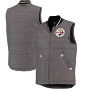 Pittsburgh Steelers Mitchell & Ness Margin of Victory Vest - Gray