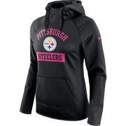 Pittsburgh Steelers Nike Women's Breast Cancer Awareness Circuit Performance Pullover Hoodie - Black