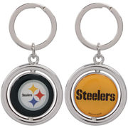Pittsburgh Steelers Football Spinner Keychain