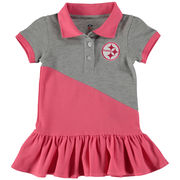 Pittsburgh Steelers Girls Toddler Good Sport Polo Dress - Pink
