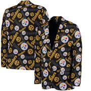 Pittsburgh Steelers Klew Repeat Print Business Jacket - Black