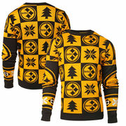 Pittsburgh Steelers Klew Patches Ugly Sweater - Black