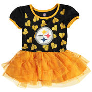Pittsburgh Steelers Girls Toddler Love to Dance Tutu Dress - Black/Gold
