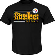 Pittsburgh Steelers Majestic Line of Scrimmage T-Shirt - Black