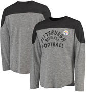 Pittsburgh Steelers Majestic Big & Tall Corner Blitz Long Sleeve T-Shirt - Heathered Gray