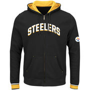 Pittsburgh Steelers Majestic Big & Tall Anchor Point Full-Zip Hoodie - Black