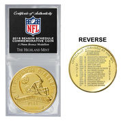 Pittsburgh Steelers Highland Mint 2016 Schedule Bronze Coin